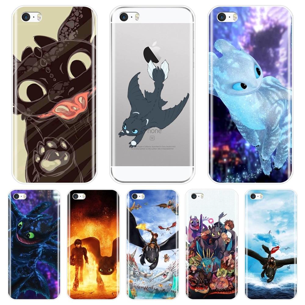 Силиконовый чехол для телефона для iPhone 5 5C 5S SE 4 4s Как приручить дракона Беззубик аниме мягкая задняя крышка для iPhone 4 5 S Чехол
