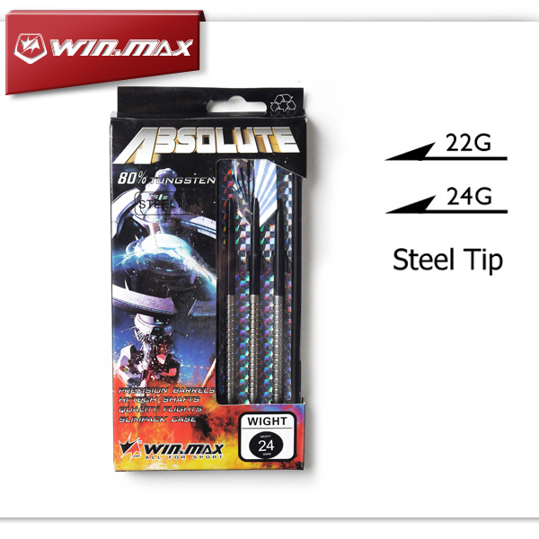 WINMAX Absolute Best Quality 80% Tungsten 22G & 24G Steel Tip Darts for Bristle (Sisal) Dartboard Paper Dartboard winmax best quality top design blade wire system professional bristle dartboard for match play