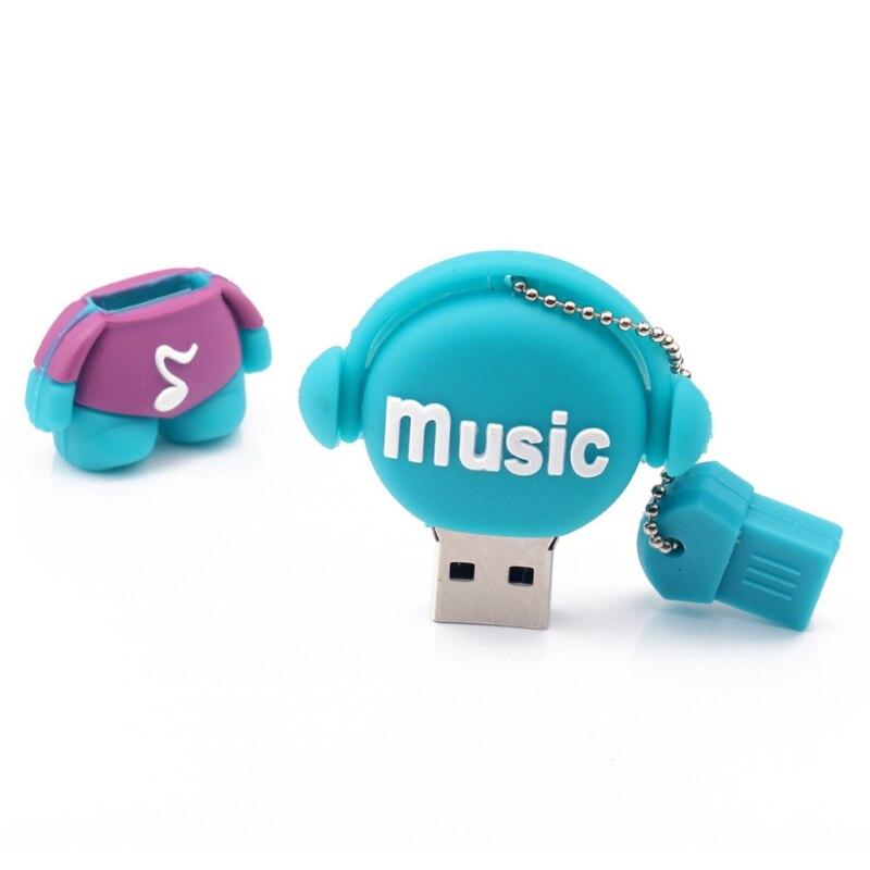 Музыкальные игрушки USB флеш-накопители 512 Мб 2 ГБ флеш-накопитель 8 ГБ реальная емкость USB память USB 2,0 карта памяти - Цвет: Зеленый