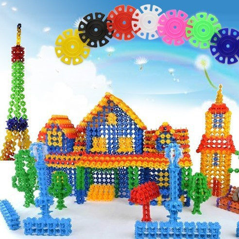 150pcs Snow Snowflake Building Blocks Toy Bricks DIY Assembling Classic Toys Early Educational Learning Toys Free Shipping