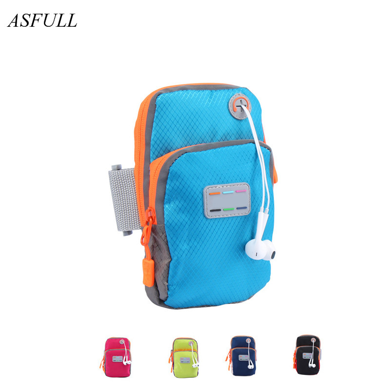 ASFULL Fashion mobile arm bag men and women running equipment arm sleeve For wrist bag outdoor sports personal mobil Storage Bag