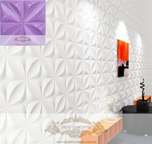 Purple Leaf Style Dc06 Interior Exterior 3d Dimensional Embossment