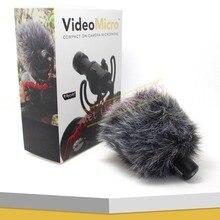 Para montó videomicro lumix compacto en el micrófono de grabación de la cámara para canon nikon sony dslr cámara dji osmo microfone