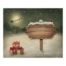 Santa Claus Christams Reindeer Sledge 7X5ft Children Baby Photography Backdrops Prop Digital Printed Photo Studio Background