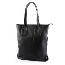 PU Leather shoulder bag black Men's Tote bag Casual business bag fashion handbag men purse bolso