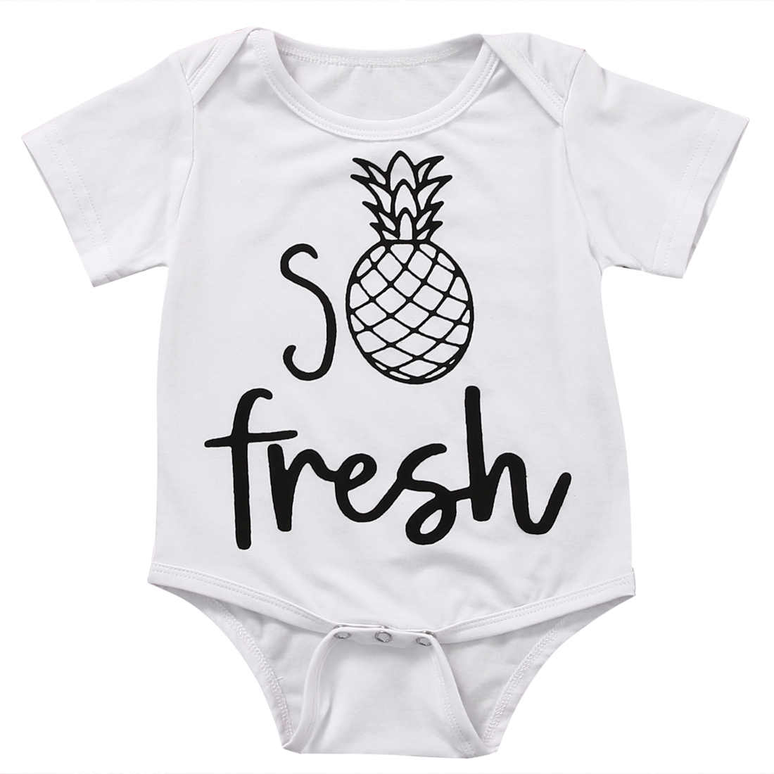 2018 Детский комбинезон с рисунком ананаса для новорожденных и маленьких мальчиков и девочек, хлопковый комбинезон с короткими рукавами, комплект одежды