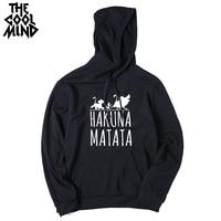 THE COOLMIND cotton blend fleece street wear pumba men hoodies casual hakuna matata printed men male sweatshirts