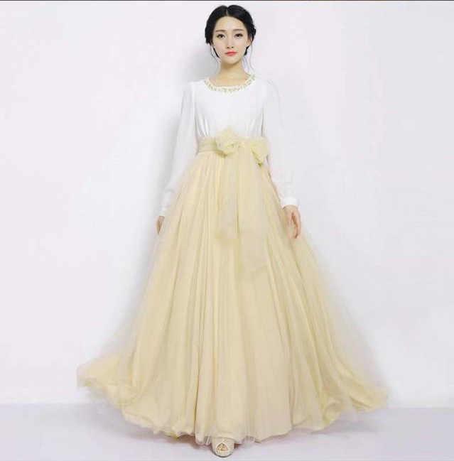 נשים קיץ חצאית 2019 מספר גדול של ספוט לבן גזה גבוה מותניים אופנה ג 'וקר מלא חצאיות Vestid LJA059