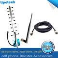Kits COMPLETOS 1710-2170 MHz GSM Repetidor! DCS 1800 mhz 65dBi CDMA850 para Solução Sinal Telefones celulares Sinal De Reforço amplificador de Sinal