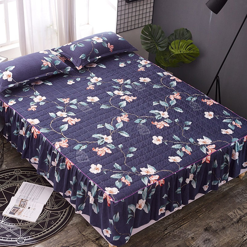 Bed skirt Multi-color bed skirts Thick with cotton bed covers  king size bedspreads  bedskirt  plant print skirt  bedsheetBed skirt Multi-color bed skirts Thick with cotton bed covers  king size bedspreads  bedskirt  plant print skirt  bedsheet
