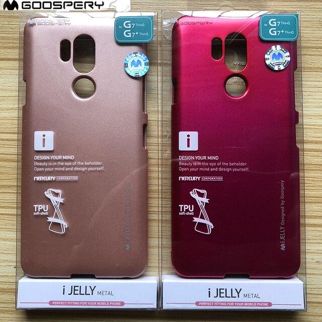 online retailer 20df9 0e9dd US $4.69 |Original Mercury Goospery i Jelly Metallic Flexible Soft Rubber  Cover for LG G7 ThinQ G7 Plus Thinq Case g4 g5 g6 k10 v20-in Fitted Cases  ...