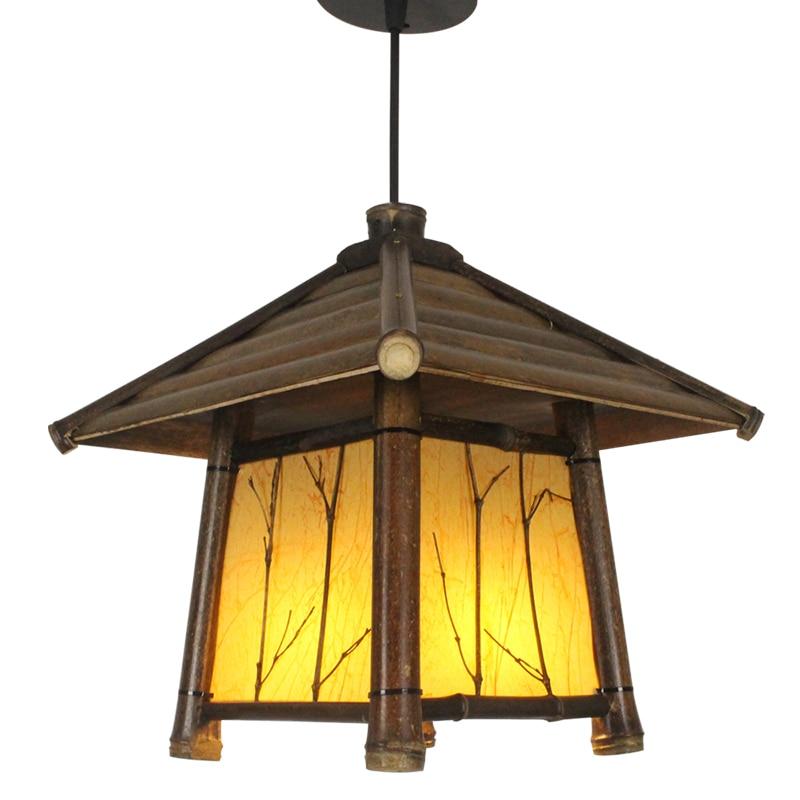 Japanski moderni privjesak od bambusa Svjetlo Washitsu Tatami Decor - Unutarnja rasvjeta - Foto 6