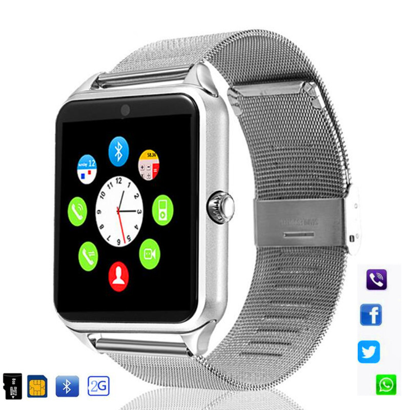 696 Z60 Smart Watch GT08 Plus Metal Strap Bluetooth Wrist Smartwatch Support Sim TF Card Android