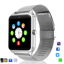 696 Z60 Smart Watch GT08 Plus Metal Strap Bluetooth Wrist Smartwatch Support Sim TF Card Android&IOS Multi-languages PK S8 V8 Y1