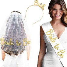 Gold Glitter Bride to Be Satin Ribbon Sash for Wedding Party Bachelorette Party Sash Bridal Shower Decorations Ideas Supplies team bride to be satin ribbon sash hen party sash bride headband for bachelorette party bridal shower wedding decorations