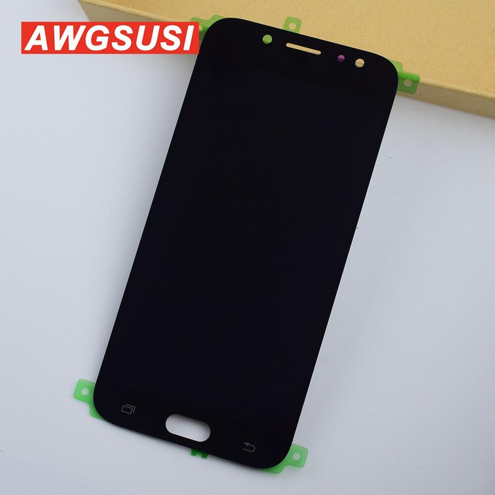 Réglable pour Samsung Galaxy J730 J7 pro 2017 écran tactile numériseur capteur verre + écran LCD moniteur panneau Module assemblage