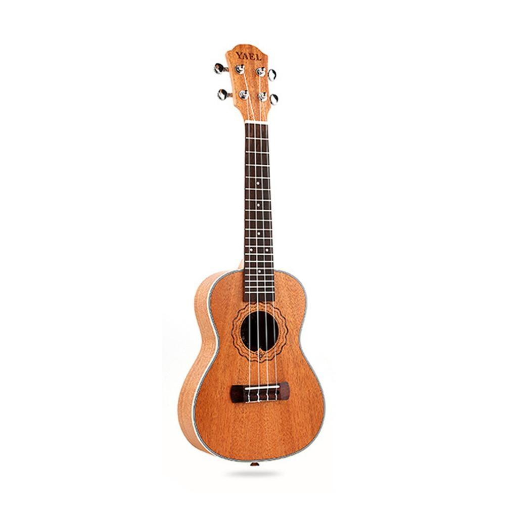 YAEL 26 inch Mahogany Tenor Ukulele Uke 4-Strings 18-Frets Hawaiian Guitar Part Accessories Strings Instrument for Beginner moonembassy ukulele bass strings ubass string accessories