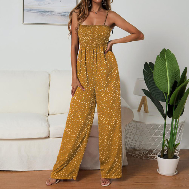 Wide-leg Pants Jumpsuit Boho