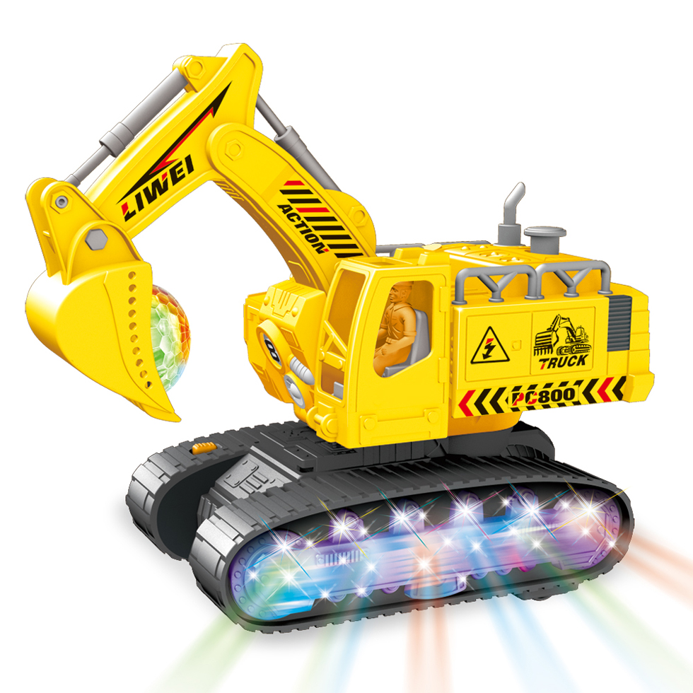Simulation Excavator Toys With Music And Light Children's Boys Electric Truck Toys Gifts Engineering Car Tractor Brinquedo