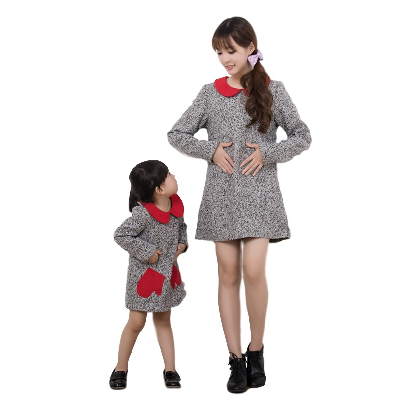 spring mother daughter clothes family look matching mother daughter dresses cotton long sleeve family matching clothes запонки daughter qj03473