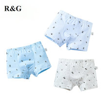 「R&G」kids panties 3 pcs/lot cotton boys underwear cartoon boxer briefs for kids children 2019 new-307