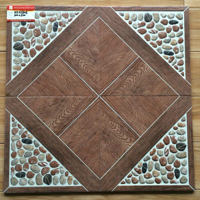Factory Direct 300300 Imitation Pebble Floor Tile Balcony Garden