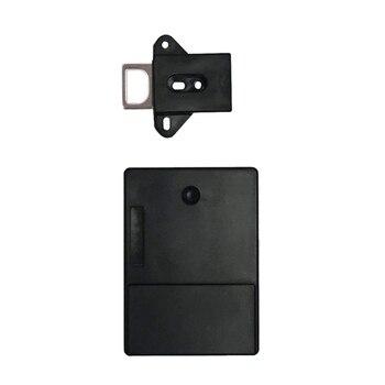 Черный Невидимый Rfid свободный для открытия умный индукционный шкаф замок шкаф обувной ящик для обуви дверной замок электронный Da