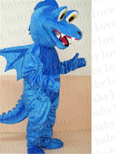 blue dragon monster mascot costume custum  color halloween costumes party dinosaurs fancy dress christmas gift