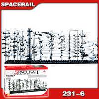 6000 cm Rail niveau 6 marbre course labyrinthe montagnes russes électrique ascenseur modèle Kit de construction tige apprentissage jouet roulement balle Sculpture