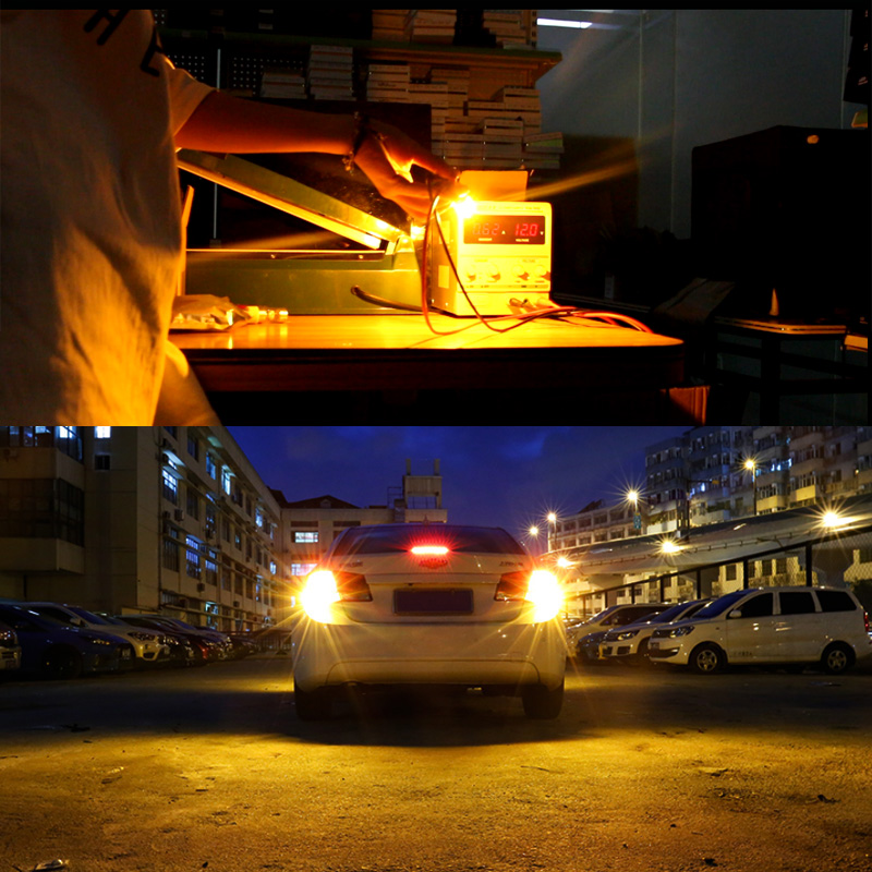 Led T20 7440 Wy21w 7444 Lamp For Buick Regal 2016 2017 Turn Signal Light Bulb Rear 140w 3000k Yellow 12v 2 Pieces Saarmat In From Automobiles