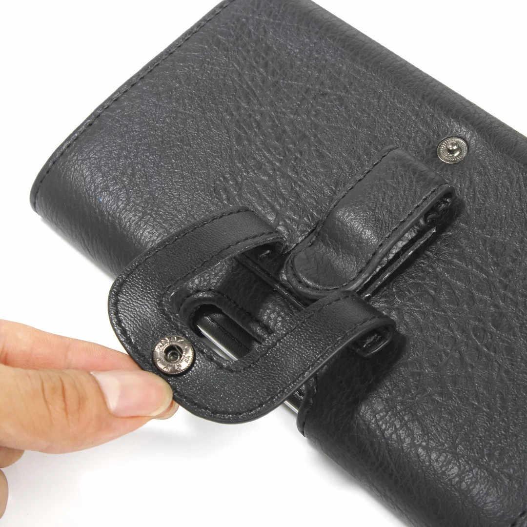 Olahraga Telepon Kasus untuk Huawei P7 P8 P9 P10 Lite Honor 7 Horizontal Magnetik dengan Sabuk Klip Pinggang Kantung Kartu slot PU Kulit Tas