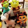 Плюшевые игрушки из мультфильма Шрек ( Шрек, Фиона, Кот в сапогах, Осел)