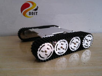 DOIT RC Robot Tank Car Chassis/Tracked Car for Remote Control Robot Parts/ Crawler Robot Electronic Toy with Solid Structure DIY