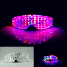 LED sunglasses Cool colorful LED science glasses Cool flash evening glow seven stage props