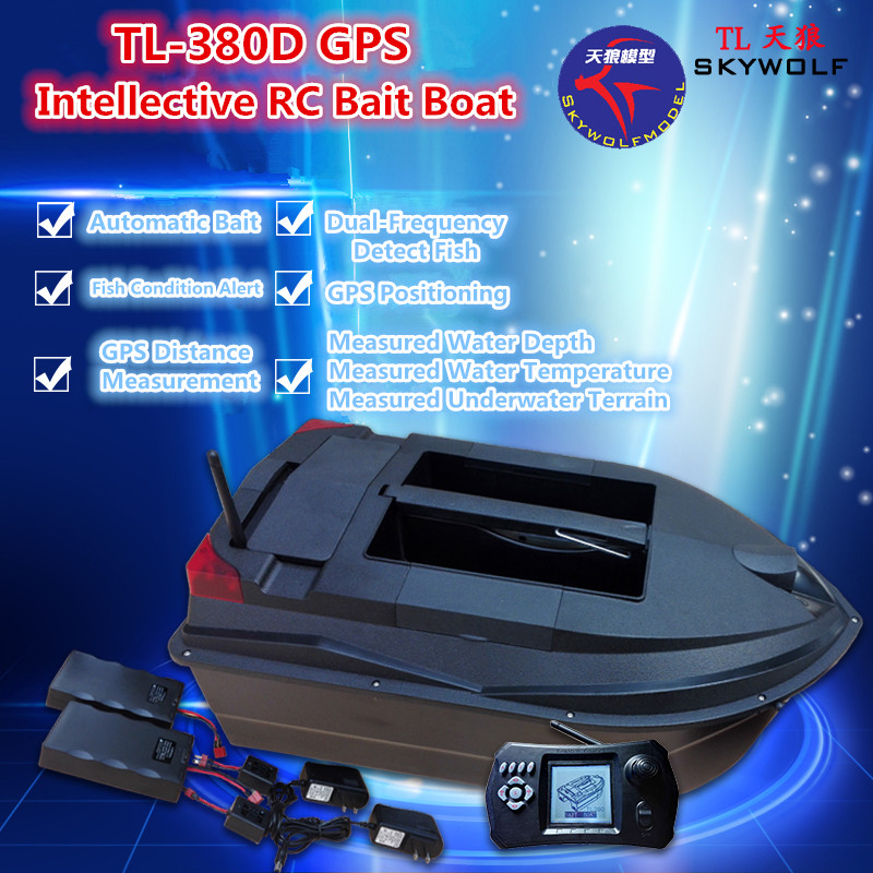 Professional Remote Control Fishing Boat TL-380D Dual Bait Well 3KG Load GPS Positioning Sonar Fish Finder Auto RC Baiting Boat Professional Remote Control Fishing Boat TL-380D Dual Bait Well 3KG Load GPS Positioning Sonar Fish Finder Auto RC Baiting Boat
