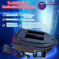 Oyuncaklar ve Hobi Ürünleri'ten RC Tekneler'de Profesyonel Uzaktan Kumanda Balıkçı Teknesi TL 380D Çift Yem Iyi 3 KG Yük GPS Konumlandırma Sonar Balık Bulucu Otomatik RC Baiting tekne