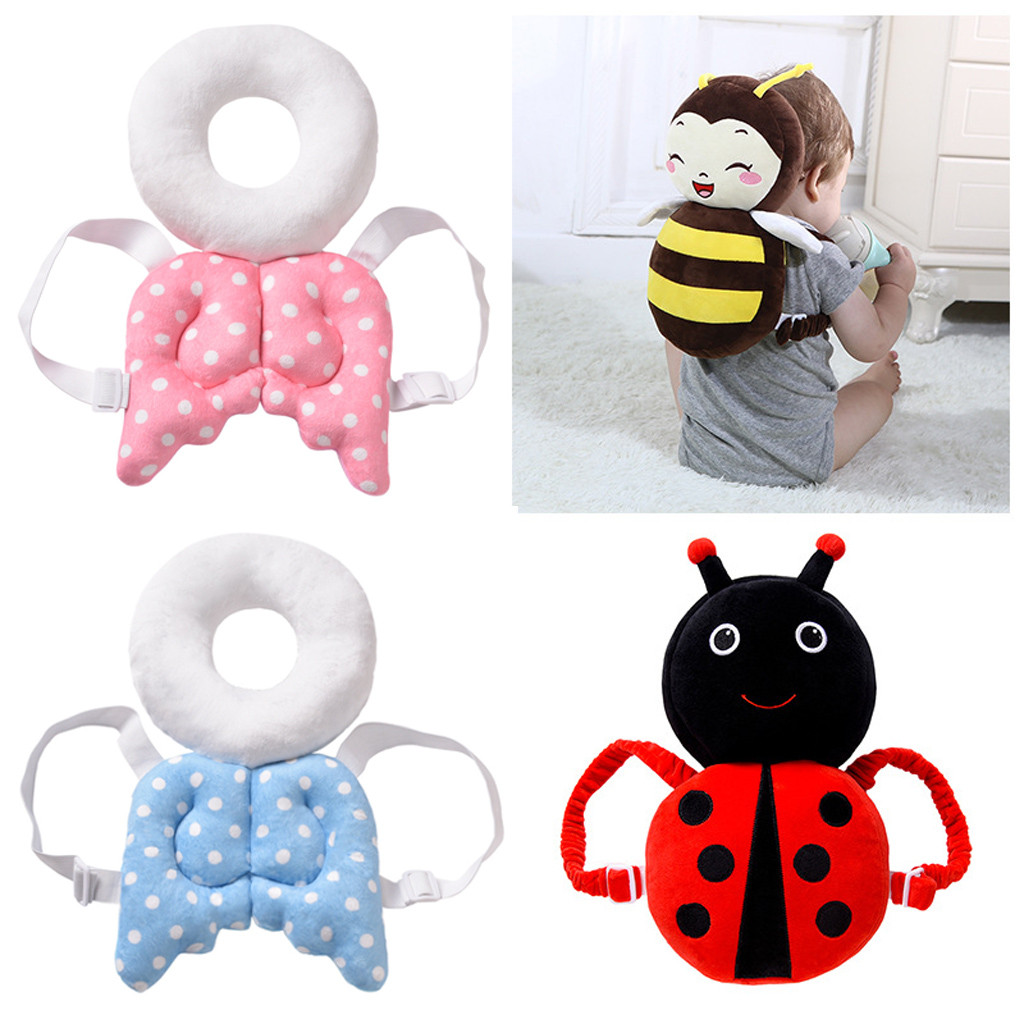 2019 Adjustable Infant Baby Toddler Safety Pads Pillow Baby Walkers Protective Pillow Head And Shoulder Protector Design