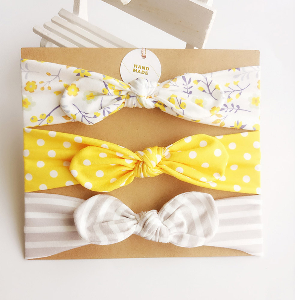 3pcs/Set Newborn Baby Headband Lovely Rabbit Ears Bowknot Hair Bands Mix Styles Headwear Kids Girls Children Hair Accessories newborn photography props child headband baby hair accessory baby hair accessory female child hair bands infant accessories