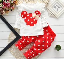 hot deal buy winter newborn baby girl clothes kids pajamas sets children cotton baby girl clothing minnie baby clothing sets ropa bebes suit