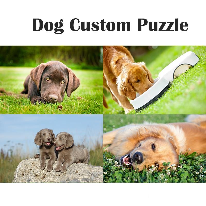 1000 Piece Dog Custom Wooden Puzzles Cute Cartoon Animal Intelligence Kids Educational Brain Teaser Children/Adult Jigsaw Gifts