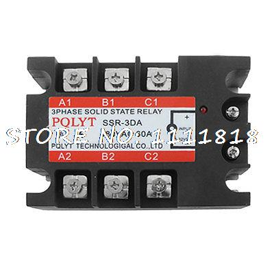 DC to AC Three 3 Phase Solid State Relay SSR 60A 3-32V DC 480V AC 40a dc control ac three phase solid state relay ssr ac three