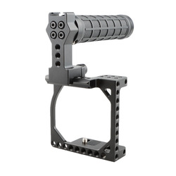 CAMVATE Small-sized Cage With Nato Top Handle For A6000 /A6300 /A6400 / A6500 & Canon Eos M / M10  C1864