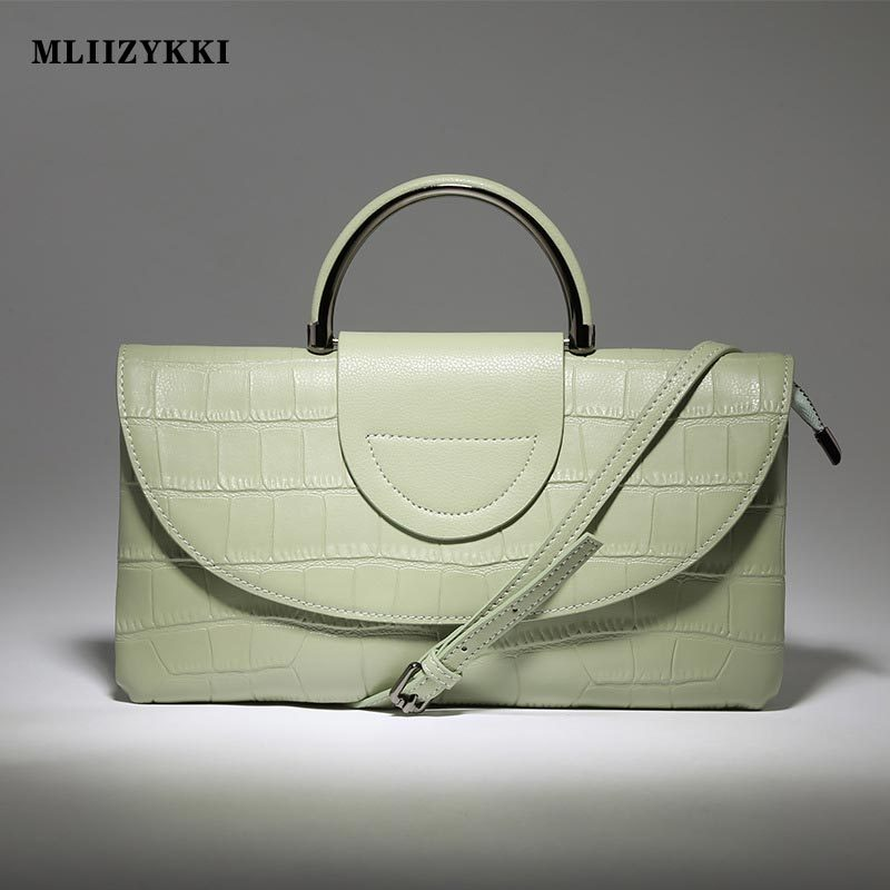 MLIIZYKKI Genuine Leather Bag New Women Messenger Bags Casual Small Crossbody Shoulder Bags Women Flap Handbags new women genuine leather handbags shoulder messenger bag fashion flap bags women first layer of leather crossbody bags