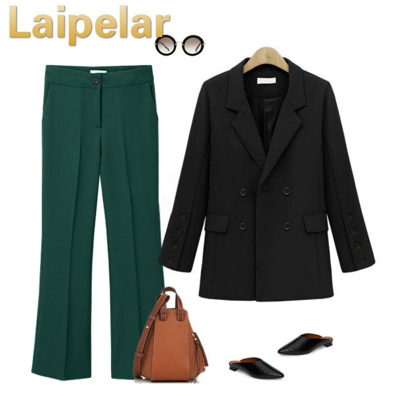Elegant Women Suit Jacket Formal Blazer 2018 Double Breasted Pocket Women Blazer Work Office Business Suit Outwear Coat Laipelar