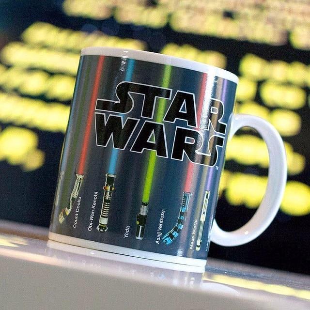 Star Wars Fans Magic Coffee Mug 300ml Personalized Magic Lightsaber Color Changing Mug