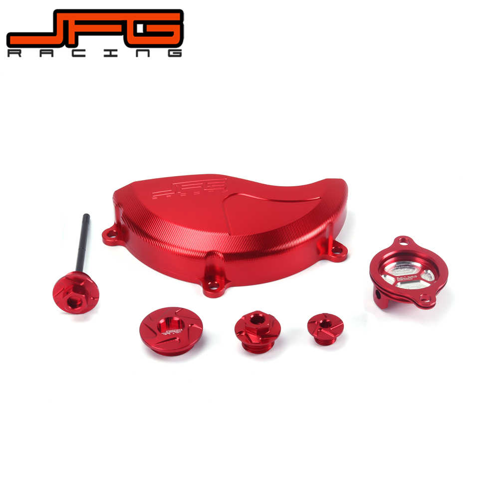 Case Clutch Cover Guard Protector Dipstick Oil Filter Cap Bolt for CRF250R 10-16