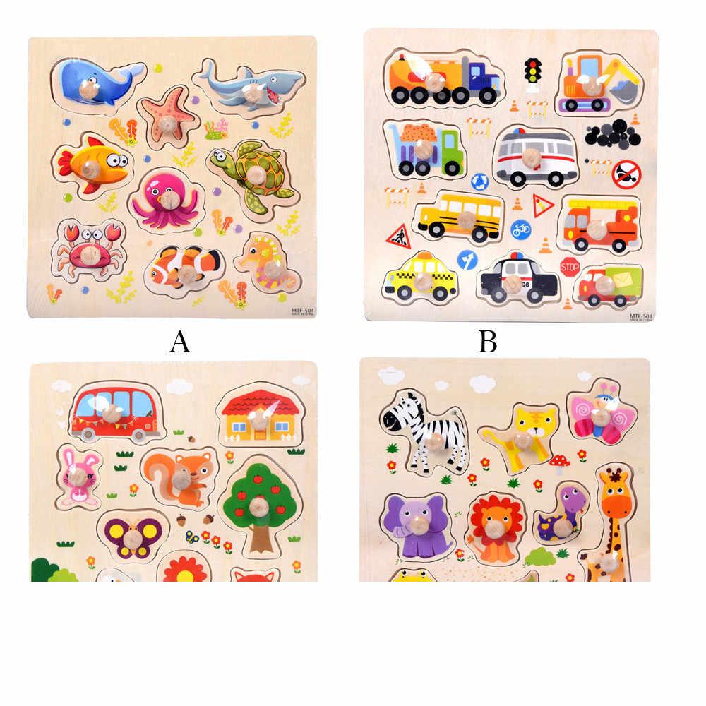9 шт. набор деревянный животные пазл головоломки раннего обучения Развивающие игры для детей игрушки 7,1
