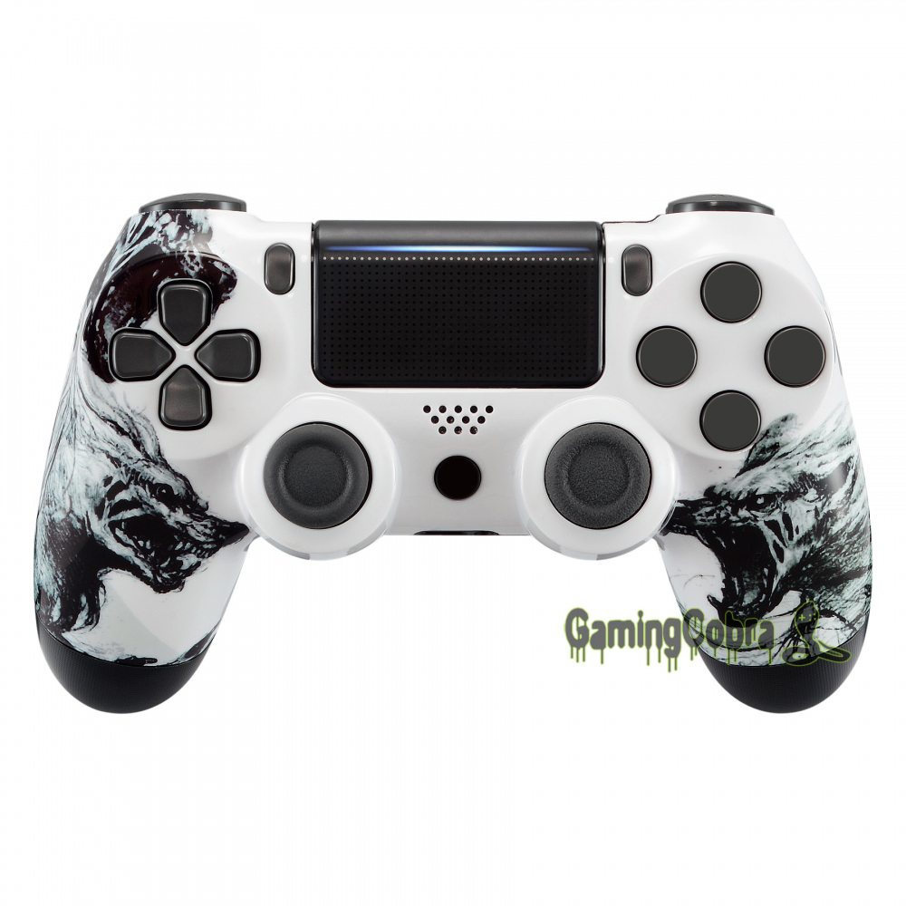 Wolf Soul Cover Top Housing <font><b>Shell</b></font> Case Replacement for PS4 Pro Slim Controller <font><b>JDM</b></font>-040 <font><b>JDM</b></font>-050 <font><b>JDM</b></font>-<font><b>055</b></font> #SP4FT09 image