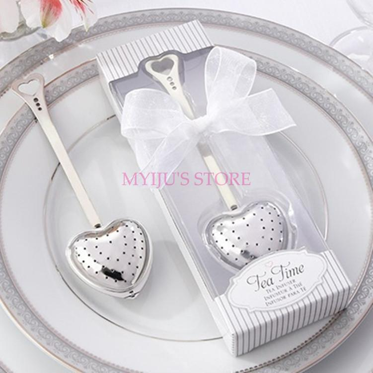 300pcs/lot  Free Stainless Steel Heart Shape TeaTime Tea Infuser Tea party Favors Wedding Favor Souvenir