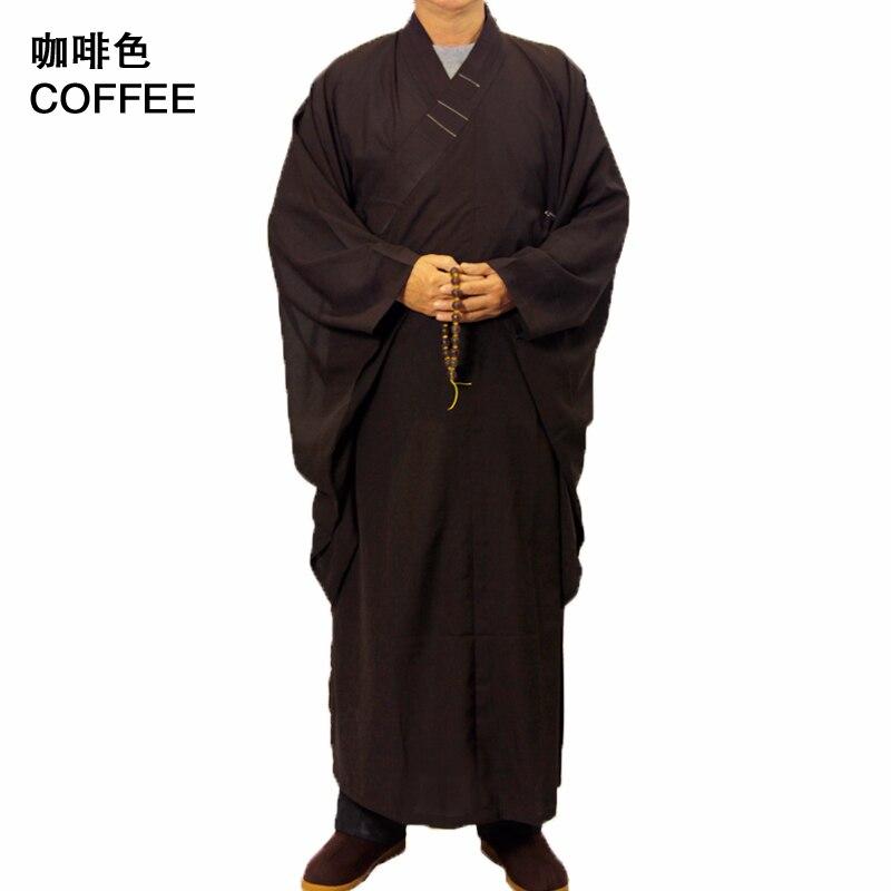 4da6e6bb8 3 colori Unisex Tempio Shaolin Abito Costume Buddista Zen Robe Lay Monk  vestiti Meditazione Kung fu Formazione Uniforme Tuta ~ Free Delivery June  2019